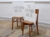 J'attends que tu, 2016, chaises en bois et impressions sur diasec, 120 x 200 x 50 cm chaque chaise, pièces uniques